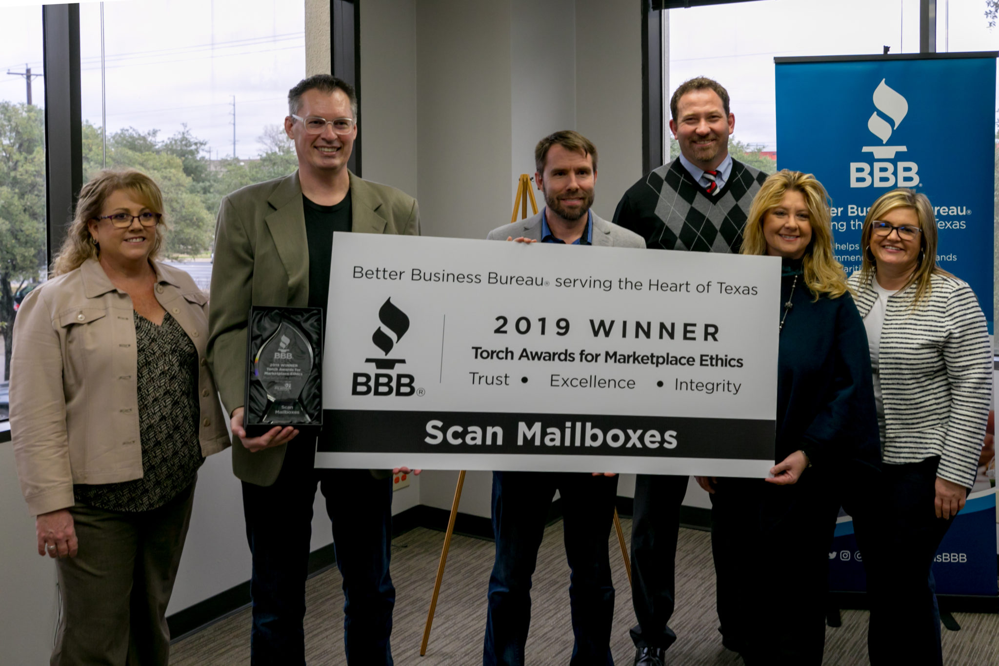 Scan Mailboxes Wins BBB 2019 Torch Awards